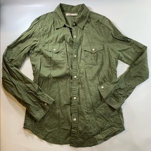 Old Navy | Olive Military Green Button Down Shirt
